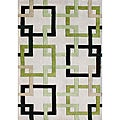 Handmade Metro Puzzle Beige Wool Rug (8&#39; x 10&#39;)