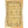 Indo Hand-tufted Gold Wool Rug (3&#39;3 x 5&#39;3)