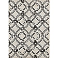Handmade Metro Circles Light Grey Area Rug (8&#39; x 10&#39;)