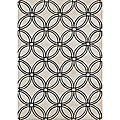 Handmade Metro Circles Light Grey Area Rug (8' x 10')