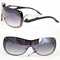 Women&#39;s M9203 Black Metal Rimless Sunglasses