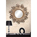 Beveled 34-inch Light gold Sun Mirror