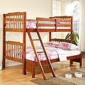Simone Mahogany Twin/ Full Bunk Bed