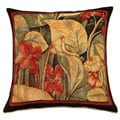 French Woven Floral Jacquard Decorative Pillow