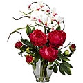 Silk 21.5-inch Peony/ Orchid Flower Arrangement