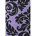 Alliyah Handmade Purple New Zealand Blend Wool Rug  (4' x 6')