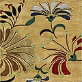 Alliyah Handmade Metro Flower Cornstalk New Zealand Blend Wool Rug (6' x 6')