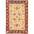 Hand-knotted 'Desert Breeze' Ivory Wool Rug (4' x 6')