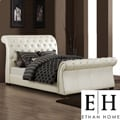 ETHAN HOME Castela Soft White Faux Leather King Sleigh Bed