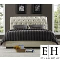 ETHAN HOME Castela Soft White Faux Leather Queen-size Bed