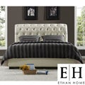 ETHAN HOME Castela Soft White Faux Leather King Bed