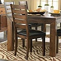 ETHAN HOME Luke Brown Side Chairs (Set of 2)