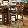 ETHAN HOME Harper Mission Oak 24-inch Counter Dining Stool (Set of 2)