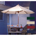 LED Lighted Hardwood Patio Umbrella