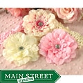Headbandz 5-piece Pink and Cream Headbands and Flowers Set