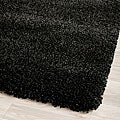 Cozy Solid Black Shag Rug (8' x 10')