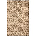 Hand-tufted Brown/ Pink Polyester Rug (5' x 7'6)