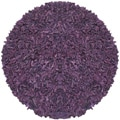 Hand-tied Pelle Purple Leather Shag Rug (6' Round)