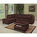Abbyson Living Delano Sectional Sofa and Storage Ottoman Set