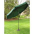 Deluxe Outdoor 9-foot Forest Green Tilt Umbrella