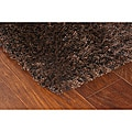 Manhattan Tweed Brown/ Black Shag Rug (4' x 6')