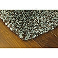 Manhattan Tweed Blue/ Brown Shag Rug (4' x 6')
