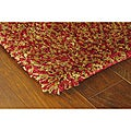 Manhattan Tweed Red/ Gold Shag Rug (4' x 6')