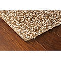Manhattan Tweed Brown/ Ivory Shag Rug (6'7 x 9'6)