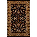 Hand-tufted Persian Black Wool Rug (5&#39; x 8&#39;)