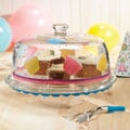 Delish Cupcakes Cake Plate with Dome Lid
