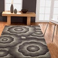 Handmade Alexa Moda Floral New Zealand Wool Rug (7&#39;6 x 9&#39;6)