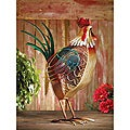 Deco Breeze DBF0406 Country Rooster Figurine Fan