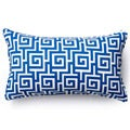 Blue Puzzle Outdoor Throw Pillow
