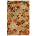 Hand-tufted Tazza Beige Wool Rug (3'6 x 5'6)