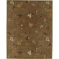 Hand-tufted Blsace Brown Wool Rugl (9' 6 x 13' 6)