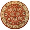 Hand-tufted Mahene Red Wool Rug (10' Round)