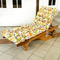 Outdoor Fireworks Floral Chaise Lounge Chair Cushion
