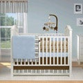 BananaFish Short Latte 4-piece Crib Bedding Set