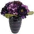 Laura Ashley Hydrangea/ Peony Arrangement in Designer Ceramic Container