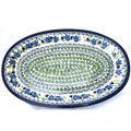 Polish Stoneware 13.8-inch Oval New Form Serving Platter (Poland)