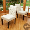 Christopher Knight Home Ivory Fabric Dining Chairs (Set of 2)