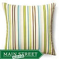 Jiti Pillows 20x20-inch Aqua Thin Stripes Outdoor Pillow