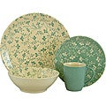Sango Fresh Flowers Aqua 16-piece Dinnerware Set
