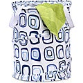 Honey Can Do HMP-01565 Blue/ White Pop-open Hamper