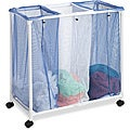 Honey Can Do HMP-01629 3-Bag Mesh Rolling Hamper