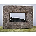 Lava Stone Sleeping Buddha Wall Hanging (Indonesia)