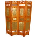 Phat Tommy Decorative 4-panel 2-sided 'Shabby Chic' Room Divider Screen