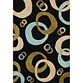 Hand-tufted Black Wool Rug (8' x 10')