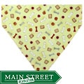 Ruff Stuff USA Yellow with Bones and Biscuits Dog Collar Bandana