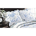 Coral Blue Quilted King-size Shams (Set of 2)